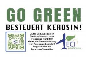 Go Green - versteuert Kerosin
